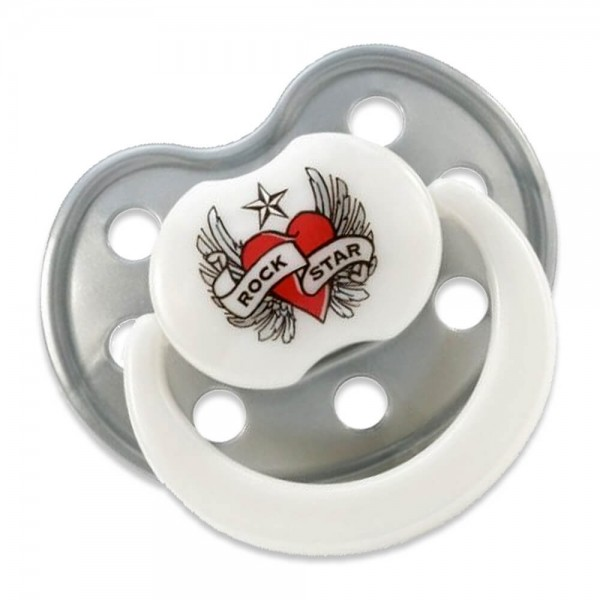 Rock Star Baby Schnuller HEART & WINGS BPA-frei