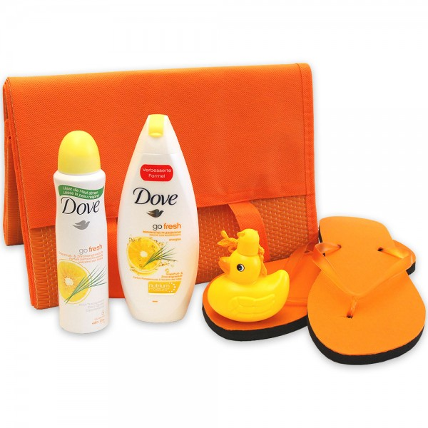 Sommerliches Geschenkset Sunshine Lady mit DOVE go fresh